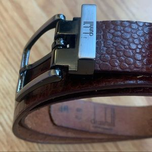 Dunhill Men's Beautiful Brown Leather Belt - 34